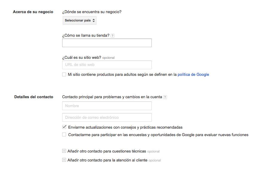 Gestionar Alta en Google Merchant