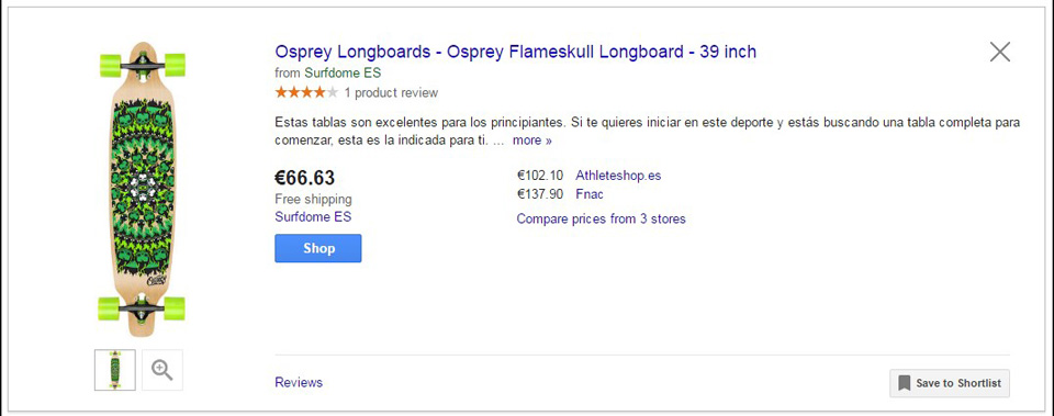Ficha Producto Google Shopping