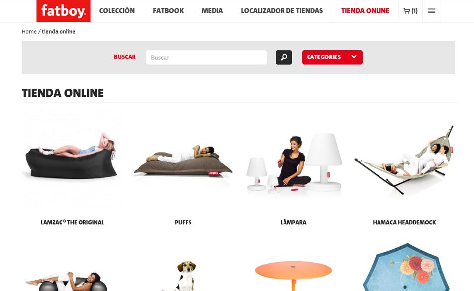 Magento tienda online muebles