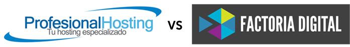 Factoria digital vs profesional hosting