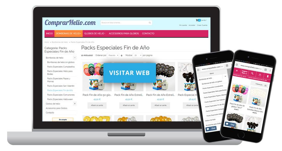 Tienda online globos personalizados y helio