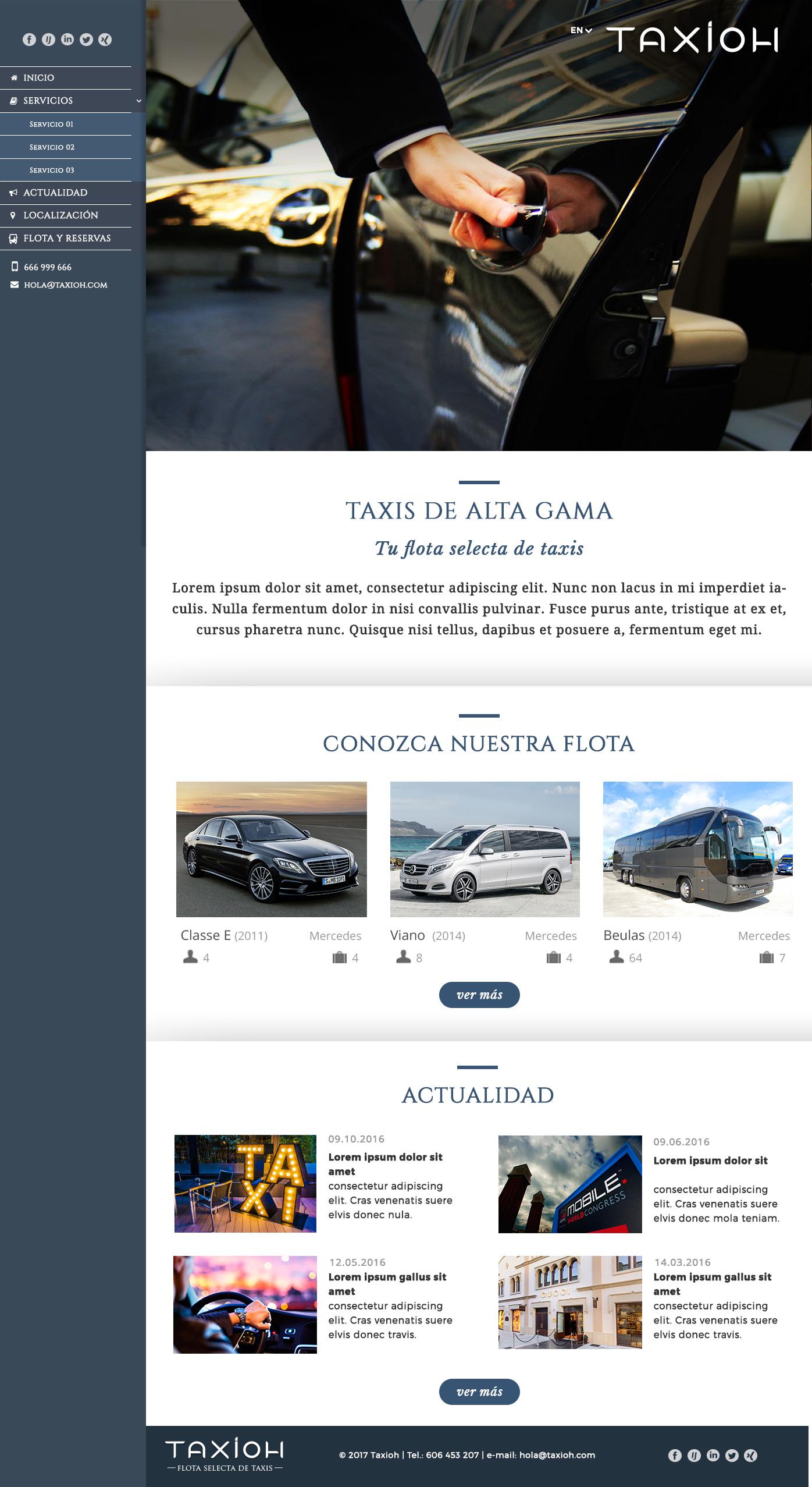diseño web taxis