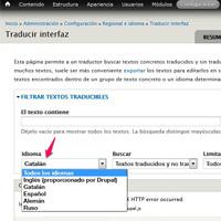 Herramienta de traduccion drupal